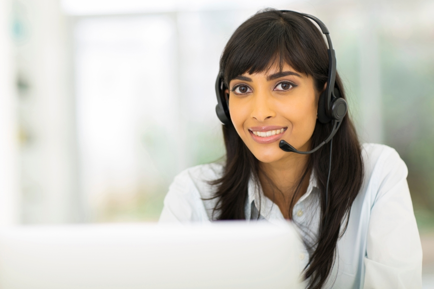 indian call center representative