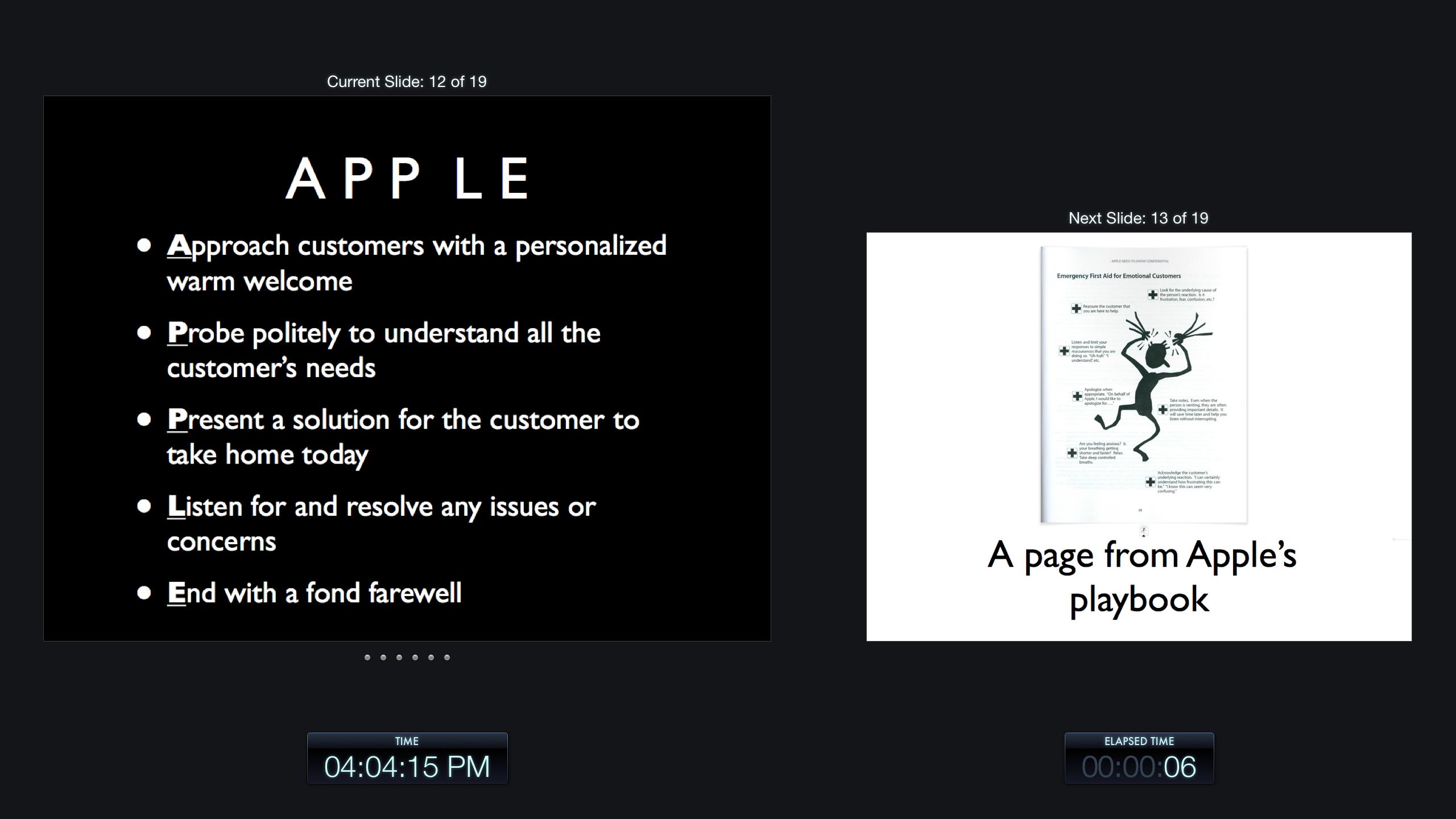 apple 5 steps of service customer service elearning onsite training. Black Bedroom Furniture Sets. Home Design Ideas