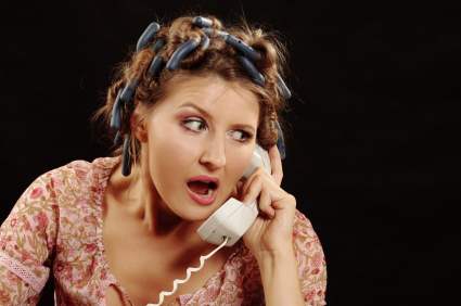 Angry Woman speaking phone
