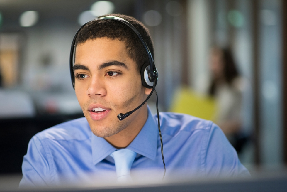 serious call centre rep