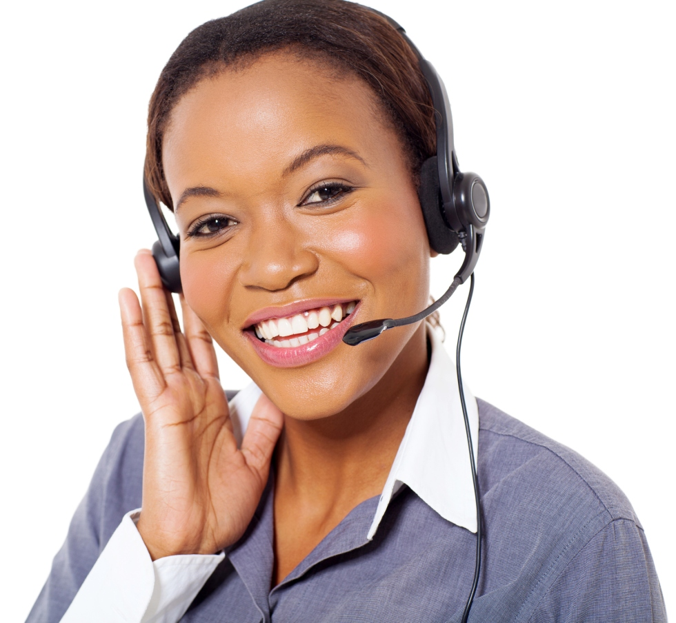 young african american call center operator